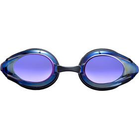 arena Tracks Mirror Goggles, zwart/blauw